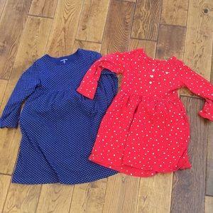 Bundle 2 long sleeve dresses with pockets!